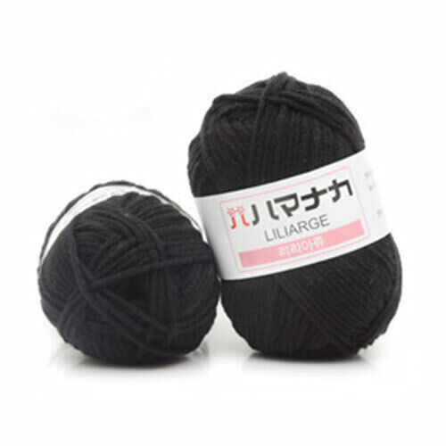 100g DIY Chunky Cotton Yarn 4 Ply Bulky Arm Knitting Wool Roving Crochet Thread