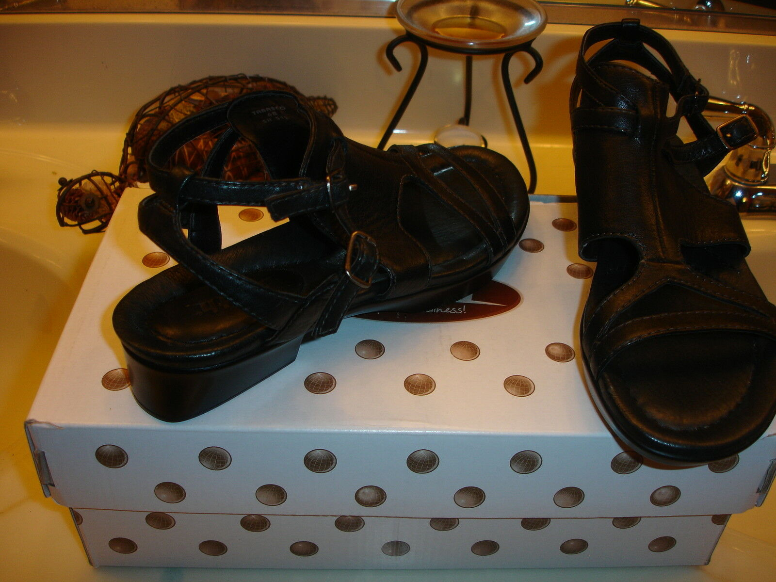Earth Tabasco nero Leather Mooshie Calf Comfort Comfort Comfort Sandal Styllish Quality  99 6 2b5b93
