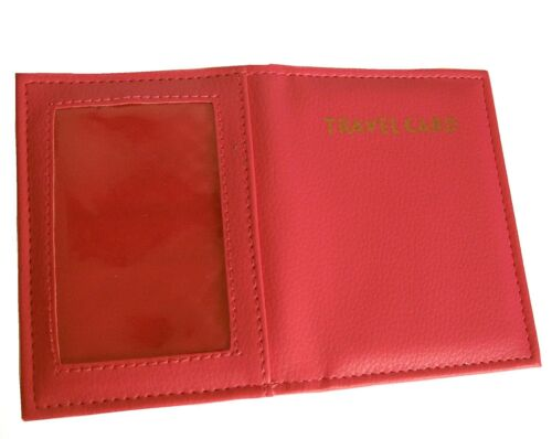 Red Travel Card Oyster Pass ID Holder 502 r