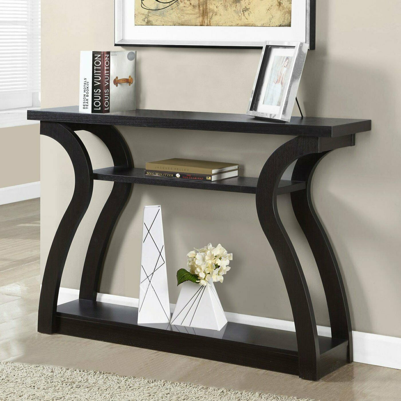 - Console Table Rustic Sofa Tables Entryway Living Room Wood Hallway