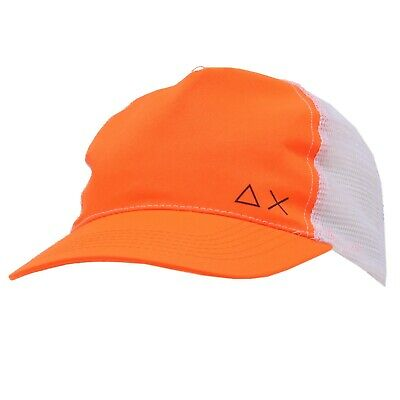 0074k Cappello Uomo Sun 68 Orange Fluo/white Baseball Cap Unisex