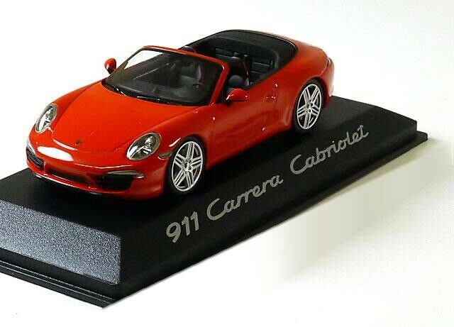 VERY RARE PORSCHE 911 911 911 (991) CARRERA CABRIOLET RED 1 43 MINICHAMPS (DEALER MODEL) 04df26
