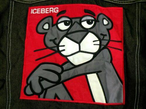 Jeans de y pantera rosa 32 verde Camisa denim xl Iceberg bordada pantalones 4Xzcq0