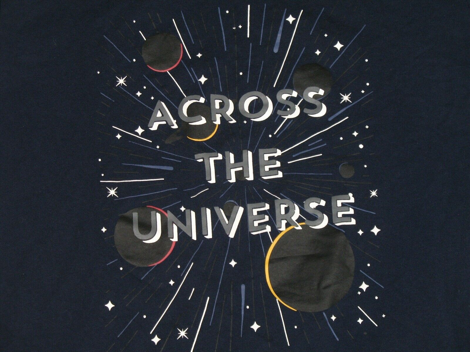 Across The Universe Stars and Planets Adult T-Shi… - image 2