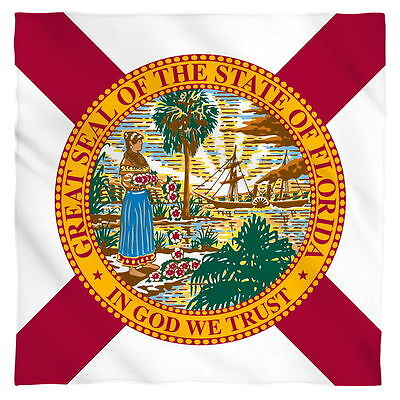 Bandana Great Seal Of The State Of Florida Flag 22x22 Inch Mask Ebay