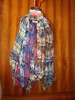 "Wrapsody In Hues Multi Hued Cinch Tapestry Scarf  75"" Long NWT"