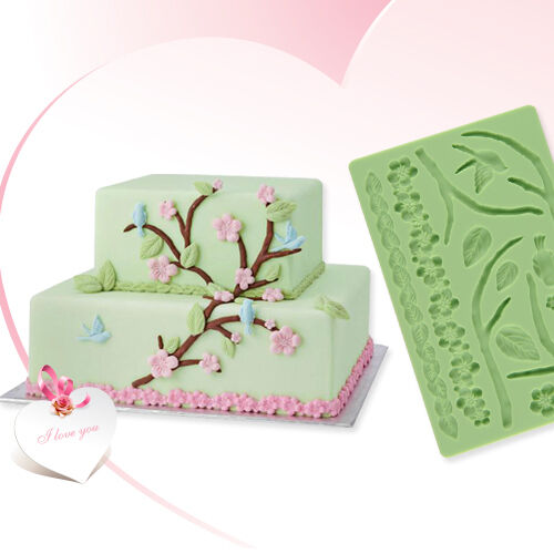 Various Silicone Fondant Cake Embossing Gum Paste DIY Decorating Baking Mould