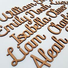 Script Names Letters Words MDF Personalised Book Art Wooden Wood Wedding SF