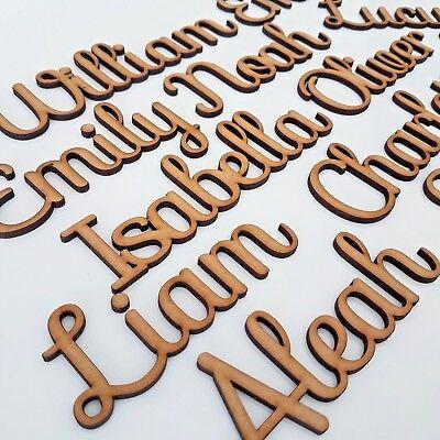 lettres ou mots-personnalisé en bois MDF mariage LM Bespoke Script police noms