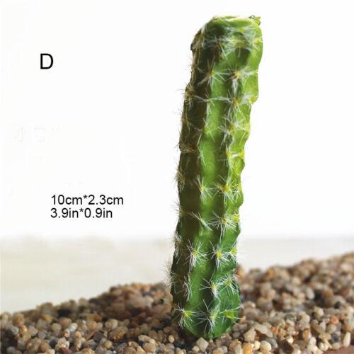 Office DIY Home Plastic Succulents Artificial Cactus Fake Plant Floral Decor