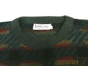 Vintage-Jantzen-Herren-XL-Rundhals-Pullover-Geometrische-Bill-Cosby-Style-Made-in-USA-EUC