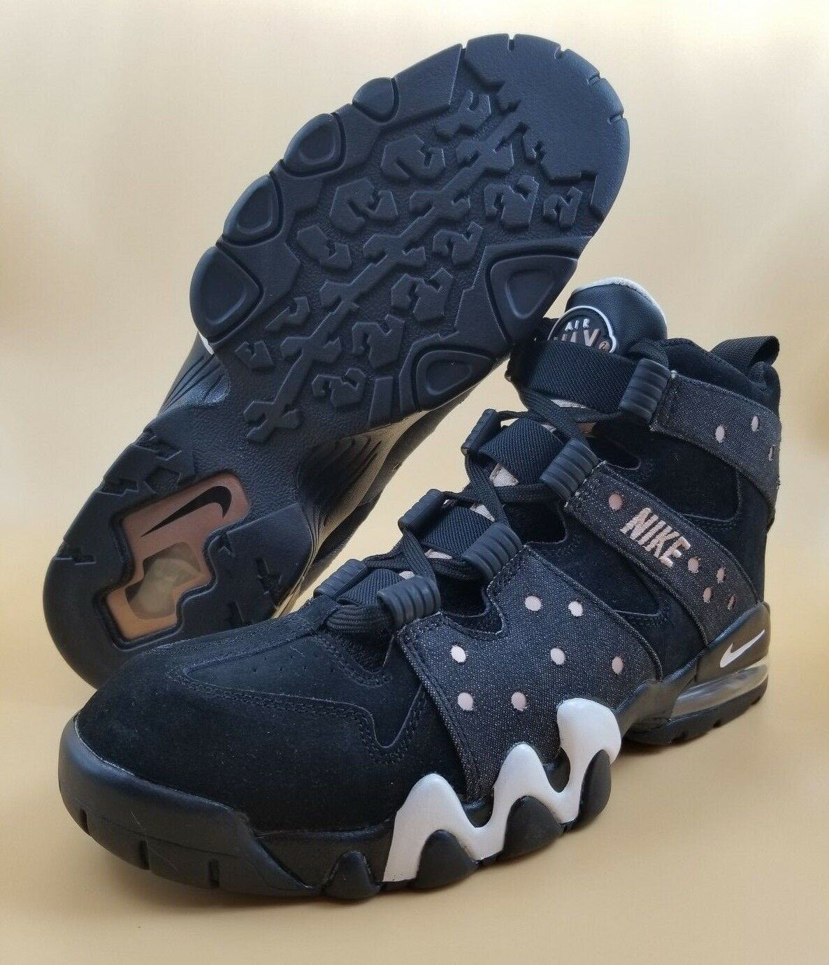 Nike Air Max 2 CB 94 Charles Barkley 305440-004 Black SIZE 11.5 13 Men shoes