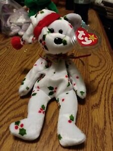 TY Beanie Baby 1998 Holiday Teddy With Tag Retired   DOB: December 25th, 1998