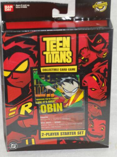 New in Box Teen Titans BANDAI Collectible Card Game Starter Jeu