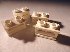 LEGO 1 x 2 WHITE HINGE BRICK x 4 (COMPLETE ASSEMBLY) PART 3937c01
