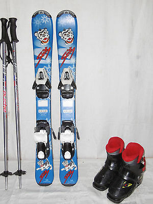 TECNO  SKITTY  SKI JUNIOR ALLROUND CARVER 80 CM + SKISCHUHE GR.: 28 IM SET