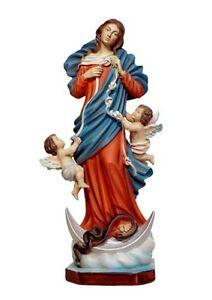 Diligent Statue Maria Que Dissout Les Nœuds Cm 40 Avoir à La Fois La Qualité De TéNacité Et De Dureté
