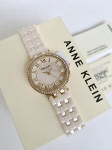 Anne Klein Watch * 2130RGLP Swarovski MOP Rose Gold & Light Pink Ceramic Strap