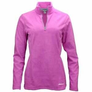 Eddie-Bauer-Quest-Quarter-Zip-Pullover-Casual-Outerwear-Purple-Womens-Size