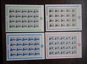 Liechtenstein-1966-Arms-of-Triesen-Families-in-complete-sheets-of-20-MNH
