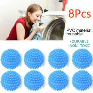 8Pcs-Tumble-Dryer-Clothes-Softener-Washing-Machine-Balls-Clothes-Softens-UK-Blue