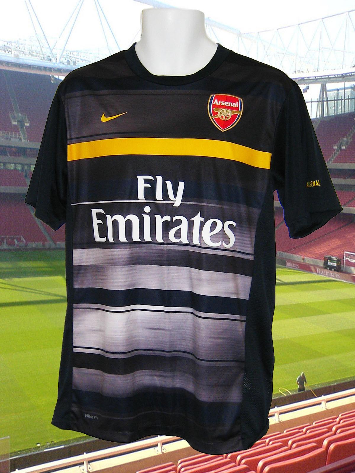Nuovo Nike Arsenal Calcio Sublimata Allenamento Pre Partita Maglietta Emirates M