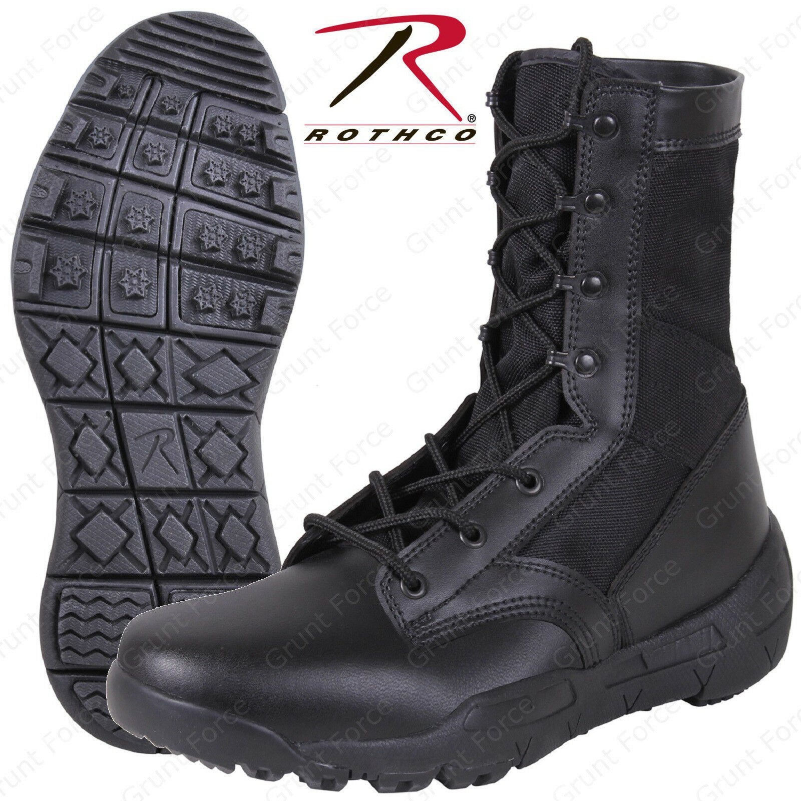 Lightweight V-Max Tactical Boots - Rothco Black 8.5