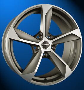 4x NEUE Borbet S 8 X 18 Zoll Alufelgen LK 5 X 115 ET 40 graphite polished matt