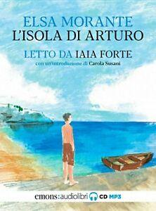 Audiolibro audiobook cd MP3 L'ISOLA DI ARTURO  ELSA MORANTE usato