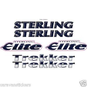 STERLING Elite Trekker STYLE CHROME Caravan Sticker - Graphics for caravanscaravan stickers ebay