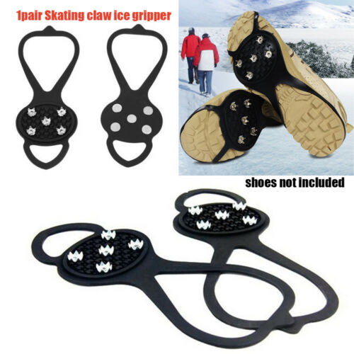 1 Pair Useful Non-Slip Spikes Grippers Crampon Ice Gripper Anti-skid Shoe Covers