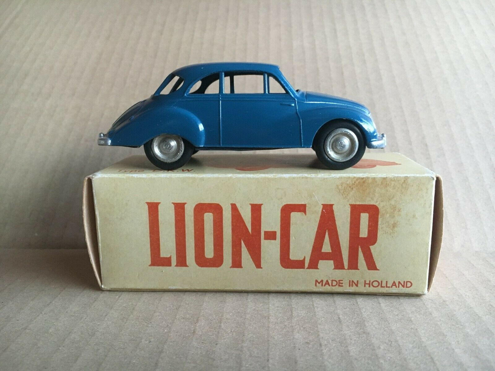 LION voiture-Lion Toys 1958 old 1st Type  bleu Version DKW AUTO UNION 3 = 6  populaire