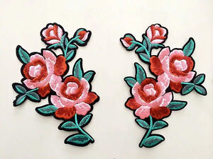 A pair flower patch gucci patch rose patch embroidered patch iron on image is loading a pair flower patch gucci patch rose patch mightylinksfo