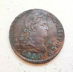 ESPAGNE-4-maravedis-1830-SUPERBE