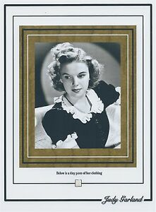 JUDY-GARLAND-tiny-piece-of-CLOTHING-wardrobe-worn-The-Wizard-Of-Oz-relic-swatch