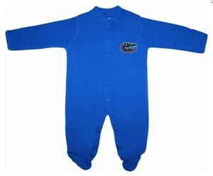 da7431561 UF Florida Gators Long Sleeve Footed Baby Romper with Snaps Infant ...