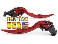 Red Blade Brake Clutch Levers For Kawasaki Ninja 250r 2008-2012 2009 2010 2011