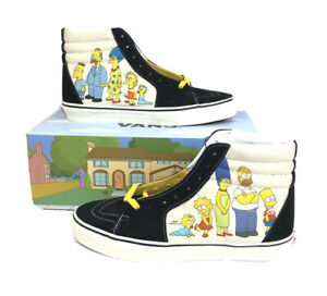 Details about Vans X Sk8 Hi The Simpsons Family 1987-2020 Old NEW School Mens Size 11 IN HAND