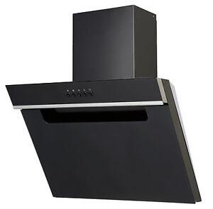 pkm 6080x schwarz glas dunstabzugshaube randabsaugung 60cm kopffreihaube schr g ebay. Black Bedroom Furniture Sets. Home Design Ideas