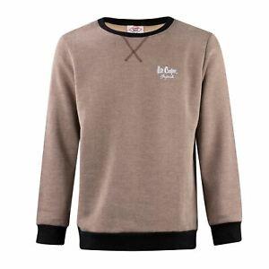 Lee-Cooper-para-hombre-Sueter-De-Cuello-Redondo-Sudadera-Contraste-Camiseta-Camiseta-Top-Puente