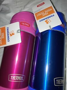Thermos-12-Oz-Stainless-Steel-Spill-proof-FUNtainers-cold-onlyPink-amp-Blue-NWT