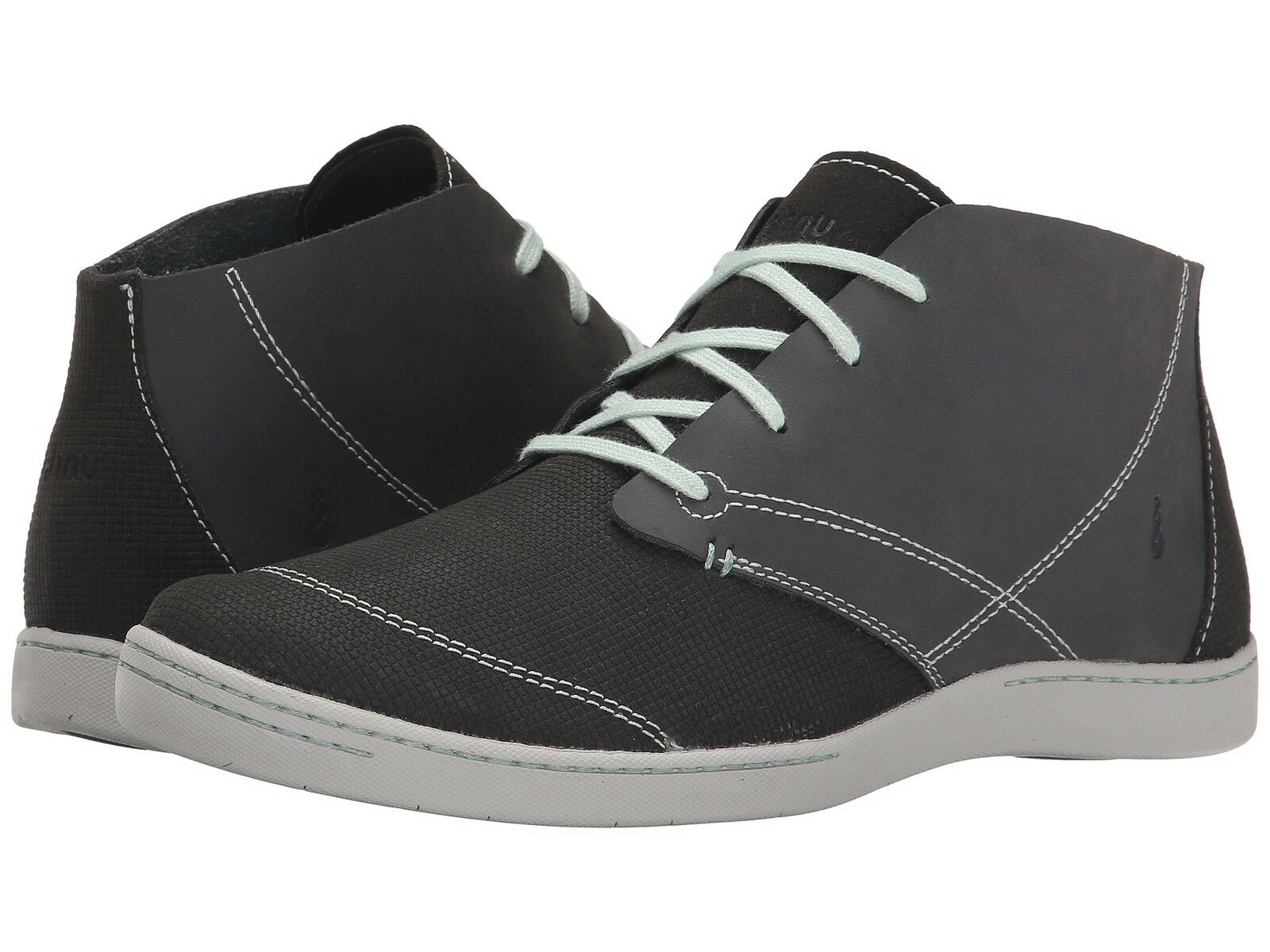 NEU Ahnu Hi Top Athletic Schuhe 9.5 110 Retail Leder Pier 3 Grau