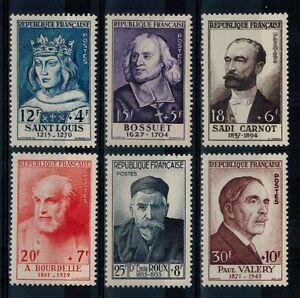 a51-timbres-de-France-n-989-994-neufs-annee-1954