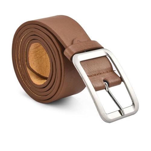 Men/'s Casual Genuine Leather Dress Belt Pin Buckle Waist Strap Belts Waistband