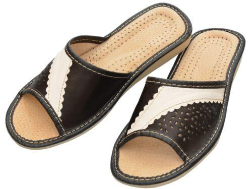 mules-xa04-ca Pantoufles femmes-taille 36-41 véritable cuir-tongs