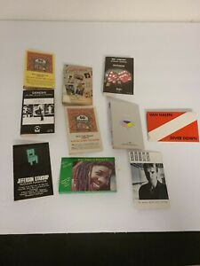 Vintage ROCK Music Lot Of Cassette J Card Inlay NO Tapes Art Only EUC