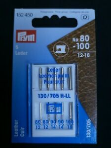 152450 Prym Leather Sewing Machine Needles per pack of 5