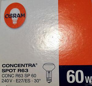 NEU-Osram-CONCENTRA-Reflektor-60W-E27-240V-REFLEKTORLAMPE-R63-STRAHLER-SPOT-30