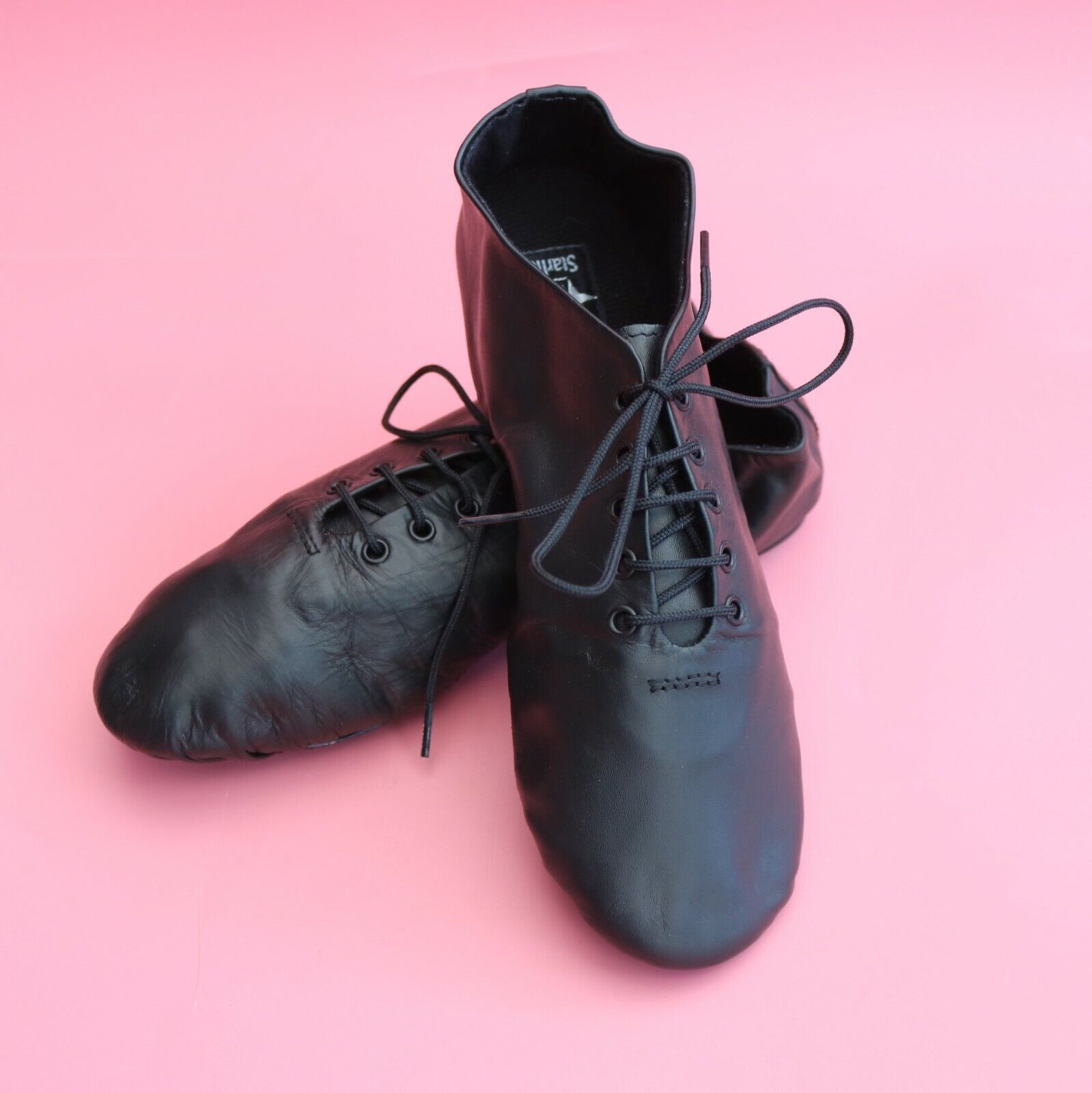 Starlite EFFECT Black Leather Split Sole Jazz Shoes Various Sizes NEW