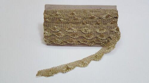 Handmade Beautiful Gold and Silver Real Mirror Lace en net-dans meters